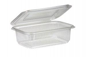 1000ml Rectangular Hinged Lid Salad Container-0