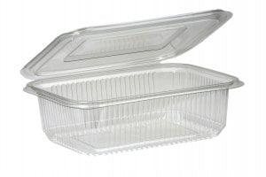 1500ml Rectangular Hinged Lid Salad Container-0