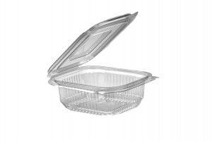250ml Square Hinged Lid Salad Container-0