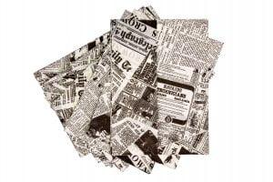 Newsprint Greaseproof Paper - 250 x 350mm-0