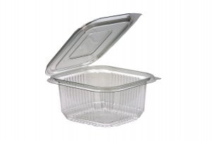 375ml Square Hinged Lid Salad Container-0