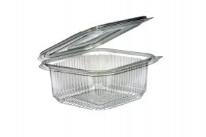 500ml Square Hinged Lid Salad Container-0