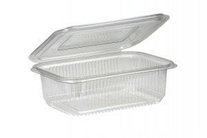 750ml Rectangular Hinged Lid Salad Container-0