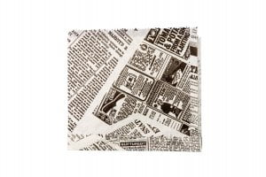 Newsprint Greaseproof Bag - Open 2 Sides -0