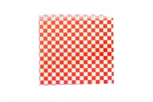 Red Gingham Greaseproof Bag - Open 2 Sides-0